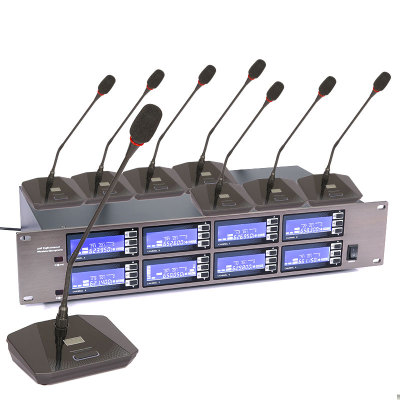 8 channel Wireless Gooseneck Microphone Conference Microphone for meeting