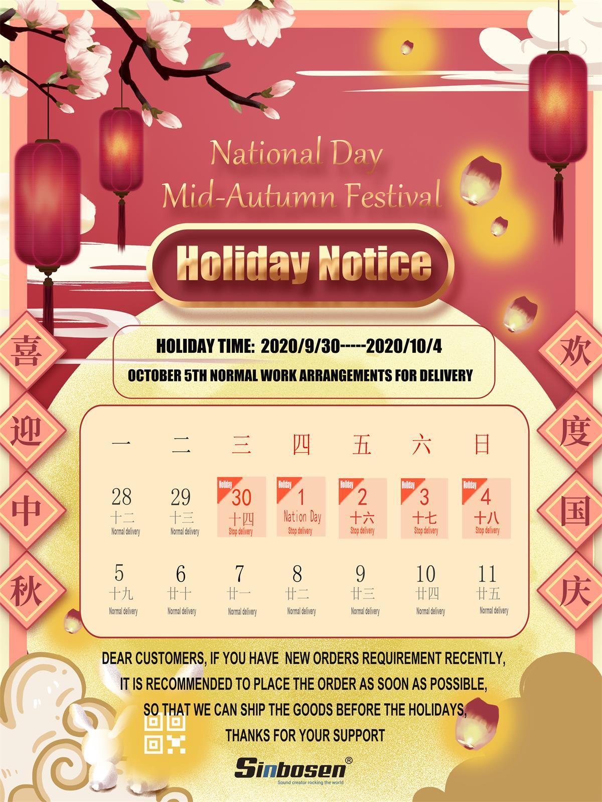 Sinbosen holiday