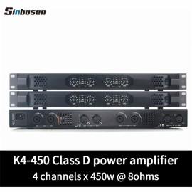 Sinbosen K4-450 Home audio 450 watt class d small 1U stereo digital karaoke amplifier