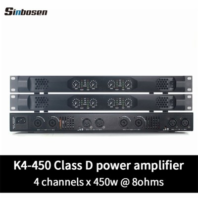 Sinbosen K4-450 Home audio 450 watt class d small 1U stereo digital karaoke amplifier