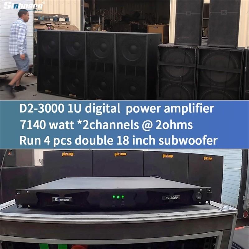 L'amplificatore di potenza D2-3000 può funzionare stabilmente a 2 ohm?