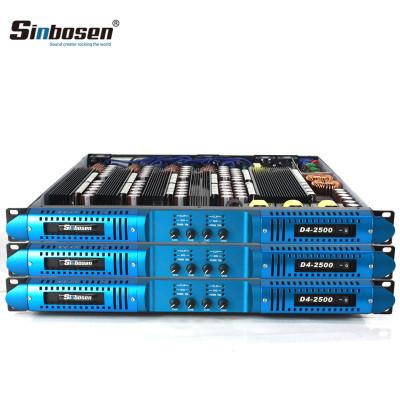 Sinbosen 2 ohm stable 5200 watts 4CH class d digital high power amplifier D4-2500
