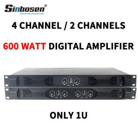 Sinbosen K4-600 Home audio 600 watt 4 channel class d digital power amplifier