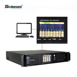 Sinbosen DSP12000Q professional dsp amplifier 4 channels 2800 watt amplifier with pc software control