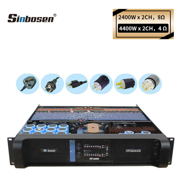Sinbosen high power 4400w 2 channel lab FP14000 amplifier for dual 18-inch bass