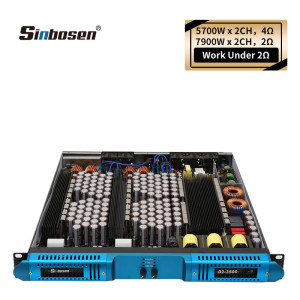 Sinbosen high power 2 ohm 7900 watts per channels 2CH class d subwoofer amplifier D2-3500