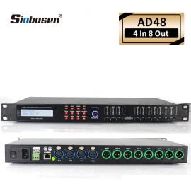 Sinbosen 4 INPUT 8 OUTPUT DIGITAL AUDIO PROCESSOR DISPLAY FUNCTIONS AD48