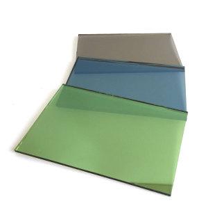 Verre réfléchissant revêtu de verre rose vert bronze or gris