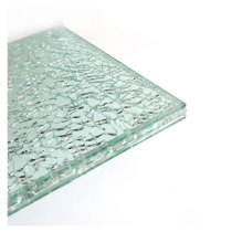 Broken Ice Cracked Laminated Glass for Decoration