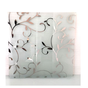 4mm 5mm 6mm 8mm Decorative Art Acid Etched Glass