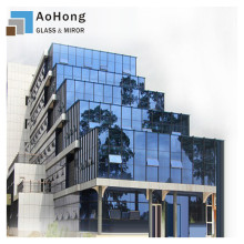 What function does the glass curtain wall have?