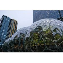 Amazon Glass Ball Building contains 300 species of tropical rainforest plants
