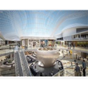 Australian shopping mall glass door turned into solar power equipment