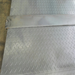 MS Carbon Steel Tear Drop Chequered SS400 A36 Q235 Checkered Steel Plate