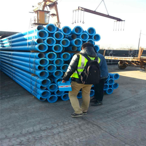 420 MPa Pull Strength and Round Shape water pressure test ductile iron pipe