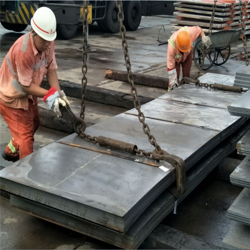 China Tangshan A36 Q235B SS400 Anti-slip Checkered MS Carbon Steel Plate