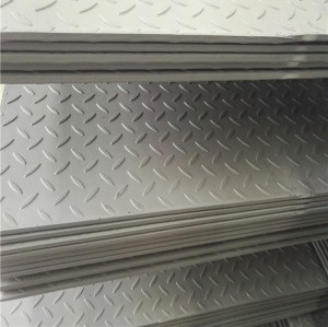 5*1000*2000mm hot rolled checkered steel plate with tear drop pattern for truck