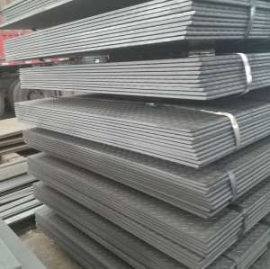 10mm hot rolled checkered steel plate with tear drop pattern for truck