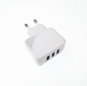 100-220V Universal Micro 3-Port USB Wall Charger Fast Charging For Cell Phone