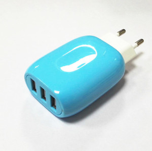 3-Port 5V 3.1A Smart Travel USB Charger Adapter Wall Portable EU Plug