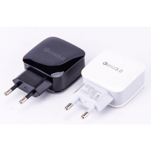 Quick Charge 3.0, 18W USB Wall Charger Adapter with Smart IC for Samsung Galaxy S7 S6 Edge Plus, Note 5/4, LG G5 V10, Nexus 6,HTC 10, Qualcomm Certified (Black)