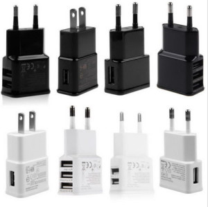 5V 2A 1 2 3 Port USB Wall Adapter Charger US EU Plug For Samsung S5 S6 iPhone BL