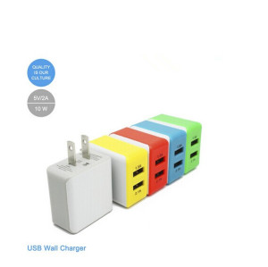 USB Wall Charger,Dual Port USB Travel Charger Adapter with Smart Technology,for iPhone X/8/7/6S/6S Plus/6 Plus/6/5S/5,Samsung Galaxy S9/S8/S7 Edge,HTC,Nexus,Moto,Blackberry and More(2-Pack)