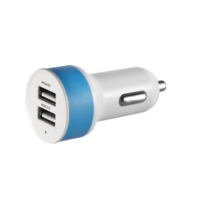 2.1A 2 usb  port usb car charger 12v/24v for iPhone / Android Smartphones Including iPhone X/ 8/7, Galaxy S9/S8/Note8, iPad Air/Mini, Sony Xperia, Google Pixel/Nexus, LG G6/V30 and More