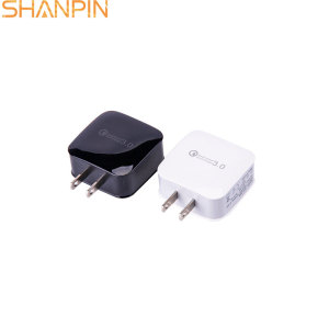 Shangpin custom phone qc3.0 usb wall us charger