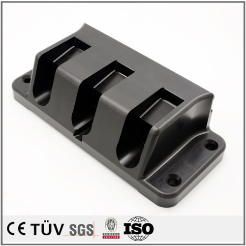 Serienmäßig gefertigte CNC-Bearbeitung geglätteter schwarzer Derlin-POM-Teile für Kunststoff-Kunststoffteile aus China