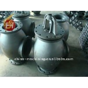 Custom dalian iron aluminium sand casting parts with CNC machining sand casting