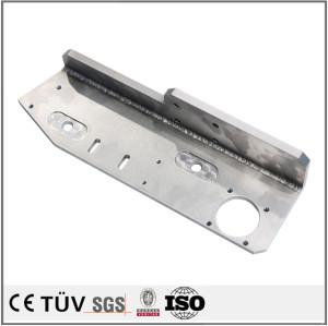 中型溶接部品/鋼制鉄製溶接物/メッキした部品/メッキし鋼鉄製溶接品/全周溶接した鉄製搬送設備用溶接品
