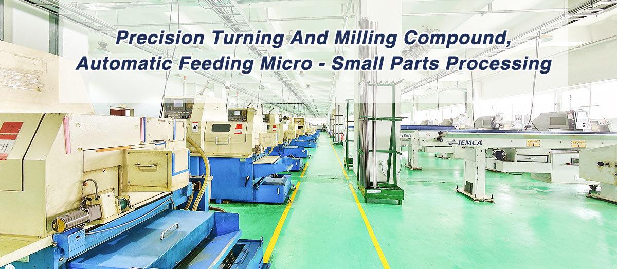 Compuesto de torneado y fresado de precisión, micro alimentación automática - procesamiento de pequeñas piezas
