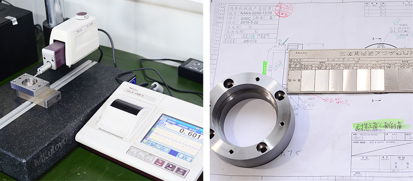 Products' surface finish test