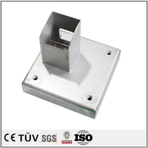 SS400,s45cなど材料,3価ユニクロメッキ,旋盤,研削バンなど加工仕上げの高品質工業用溶接工部品.