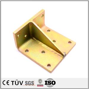 カラーメッキしたS45C材/S45C材の半自動溶接で使用する建築資材溶接部品.