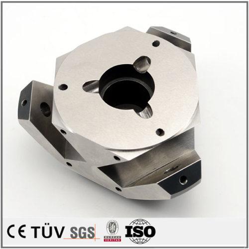 五軸マシニングセンターと旋盤加工,ステンレス鋼材で黒染処理の高硬度,高品質な機加工部品