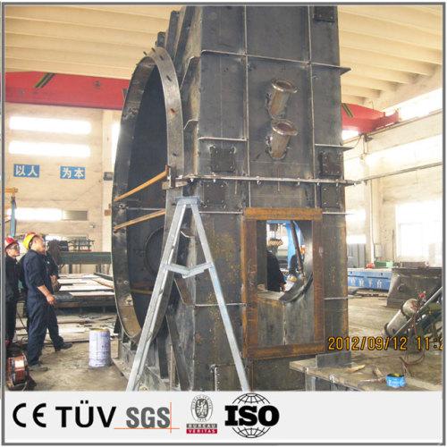 大連機加工メーカー製造,塗装のため錆止め処理,旋盤と溶接機を使用運送機用溶接部品