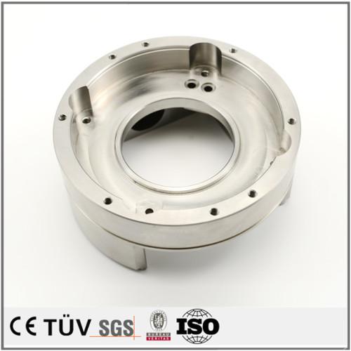 SKS3材質,五軸連動複合加工機,  鏡面研削,白アルマイト処理,電子設備用機加工部品.
