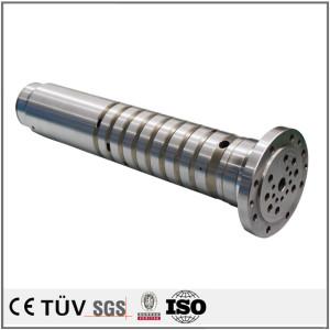 炭鋼材料加工、五軸連動複合加工機加工のサービス、ハードクロムメッキ処理、気動車用機加工部品。