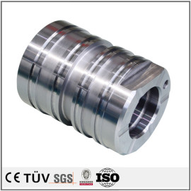 SUS316L材質,クロムメッキ処理,五軸マシニングセンター,研削機を駆使した,応用分野が広い機加工部品.