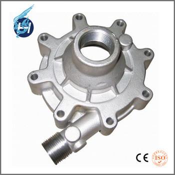 アルミ合金鋳造製品、水ガラスの方法を使って、白アルマイト処理、大連鴻昇機械高耐用性鋳造部品。