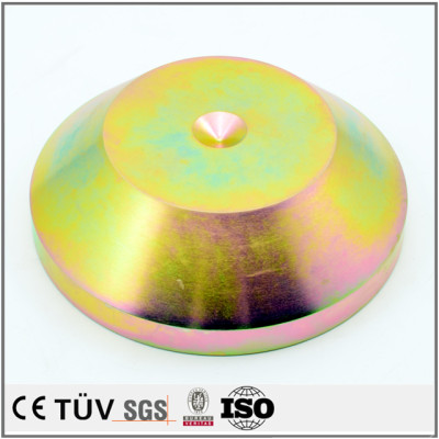 Dalian hongsheng provide OEM service zinc color-plated fabrication machining parts