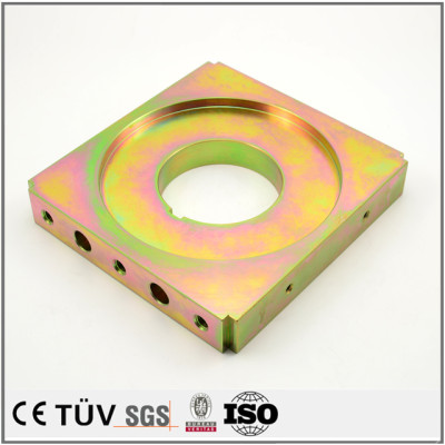Custom made zinc color-plated fabrication service machining parts