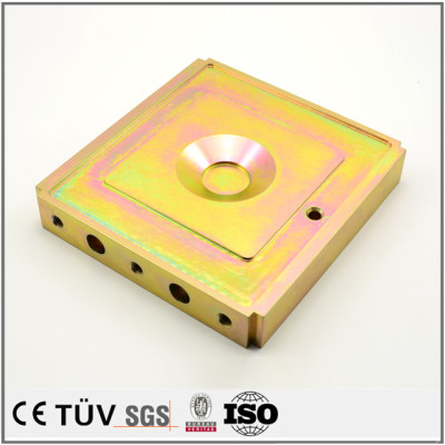 OEM service zinc color-plated machining parts