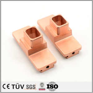High precision chromium copper material milling processing, generator parts processing