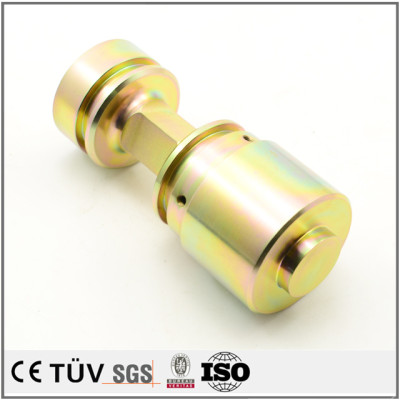 High precision zinc color-plated service fabrication machining parts