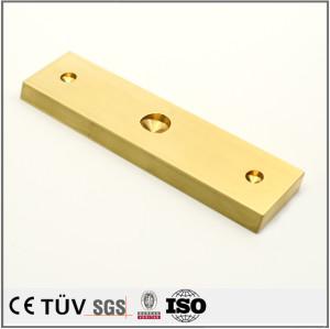 真鍮精密な包装機用部品/クロムマッキしたSS400材/ユニクロしたS45C精密部品