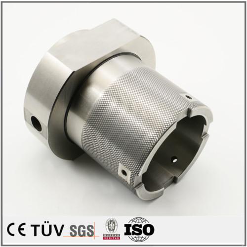 硬質クロムメッキしたS45C材精密なシャフト/無電解ニッケルしたSS400部品/ユニクロしたSS400材ネジ
