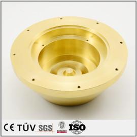 五軸マシニングセンター加工した真鍮部品/NC旋盤加工した精密部品 /銅など材料の精密部品